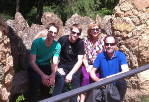 Raphael, Dominik, Barbara und Winfried Süßenbacher